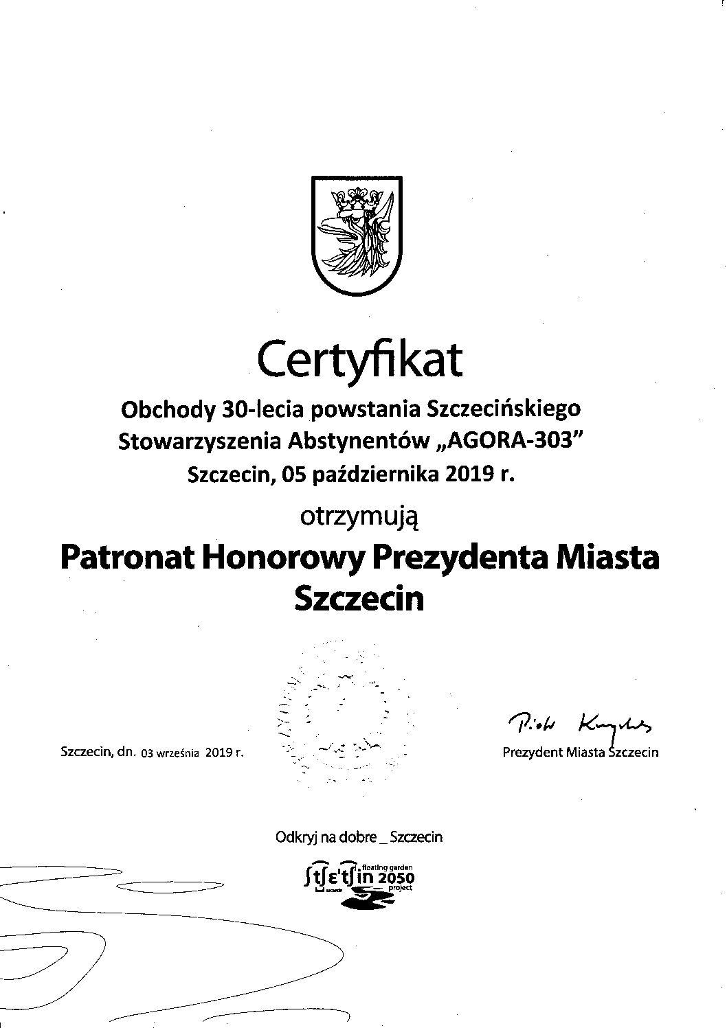 Patronat Prezydenta Miasta Szczecin